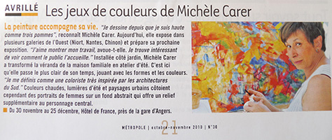 Michele CARER - Article de presse - Metropole - 10-11/2010