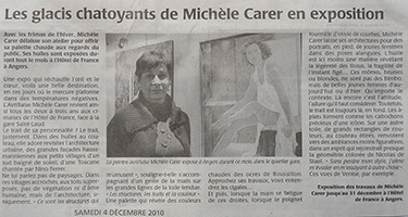 Michele CARER - Article de presse - Courrier de l'Ouest - 12/2010