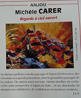 Michele CARER - Article de presse - Univers des Arts - été 2000