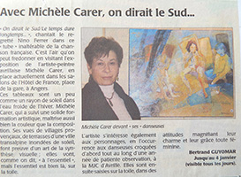 Michele CARER - Article de presse - Courrier de l'Ouest - 12/2007