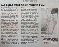 Michele CARER - Article de presse - Courrier de l'Ouest - 06/2005