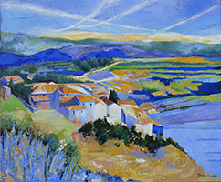 Michele CARER - peintre - toile - Blue hills
