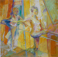 Michele CARER - peintre - toile - Barre exercises